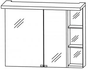 2D Spiegelschrank 90 cm S2A439R26