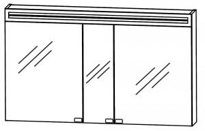 Spiegelschrank 140 cm S2A5814 5 - für Doppelwaschtisch-Lösung