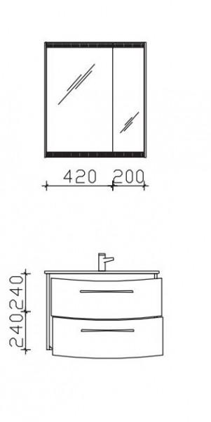 Pelipal Solitaire 7025 Kombination 2 - 73 cm