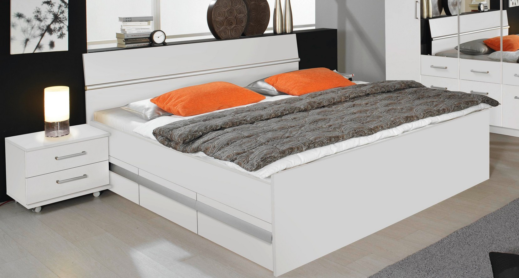 rauch packs apulien kompaktbett mit 2x3 erset sockelschubk sten g nstig kaufen m bel universum. Black Bedroom Furniture Sets. Home Design Ideas