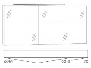Spiegelschrank 150 cm SFLS663 / SFLZ663
