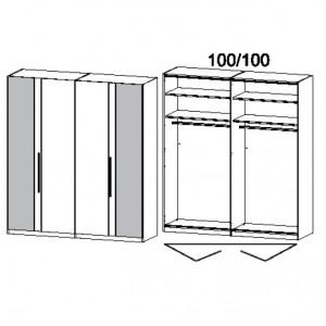 201 cm Falttürenschrank - ohne Spiegel