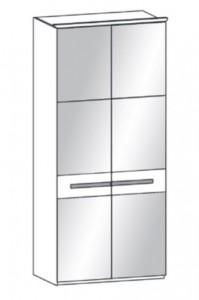 191 - 2 bronzierte Spiegeltüren