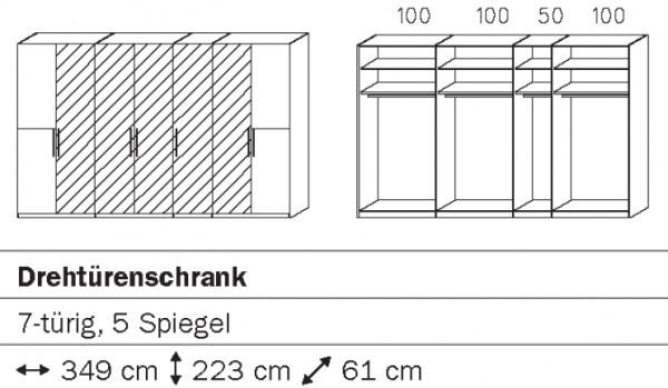 Rauch Steffen Vadora Drehtürenschrank mit Spiegel S040