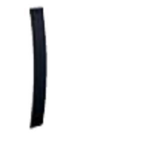 04 - Schwarz gebürstet - 1 Stück - Höhe 24cm