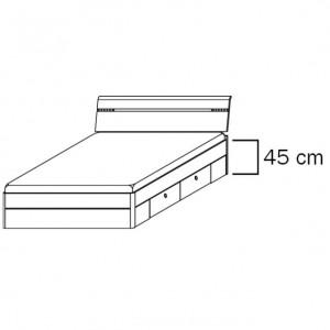 mit 0985 Schubkästen, Liegefläche 160x200 cm