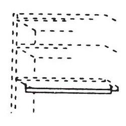 565122 Kleiderstange für Kleiderschrank 1-türig, Breite 47,6 cm