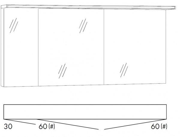 Marlin Bad 3160 - Motion Spiegelschrank 150 cm SOBS366