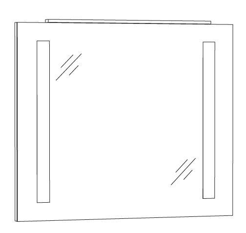 Marlin Azure Spiegelpaneel 80 cm SPFLS8