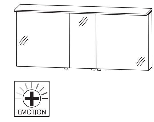 puris aspekt spiegelschrank 150 cm g nstig kaufen m bel. Black Bedroom Furniture Sets. Home Design Ideas