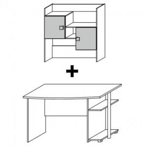 950F Schreibtisch + 7802 Aufsatz