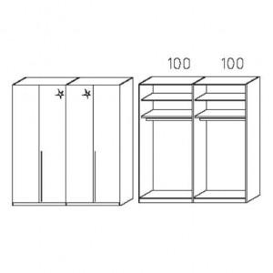 S234 - Äußere Schranktüren in Korpusfarben - Breite: 200 cm