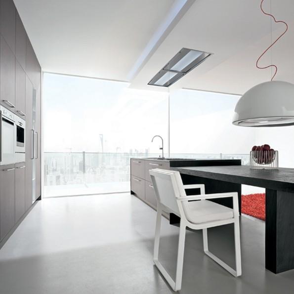 Falmec Nuvola 140, Design, Deckenlüfter, 140 cm, Edelstahl