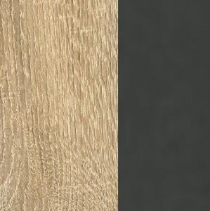 Dekor-Druck Eiche Sonoma / Absetzungen grau-metallic