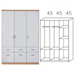 0R96 Kombischrank, Breite 136 cm
