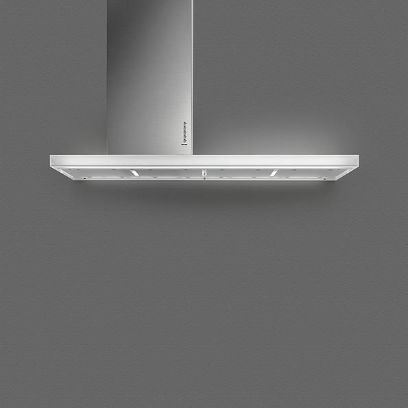 Falmec Lux W 90, Fasteel, Wandhaube, 90 cm, Edelstahl / Glas