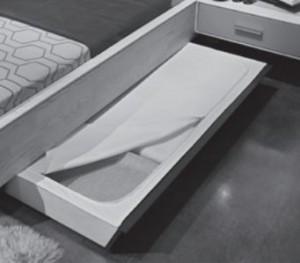 1 x 565884 Bettschubkasten-Abdeckungs-Set, Stoff beige mit Reißverschluss