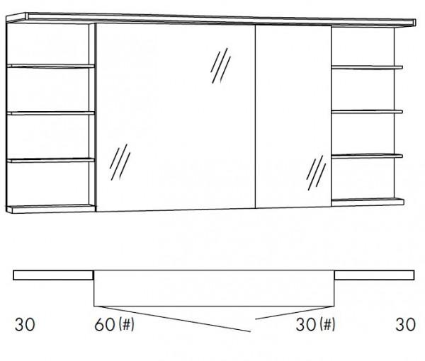 Marlin Bad 3160 - Motion Spiegelschrank 150 cm SOBSR63R / SOBSR63RLS