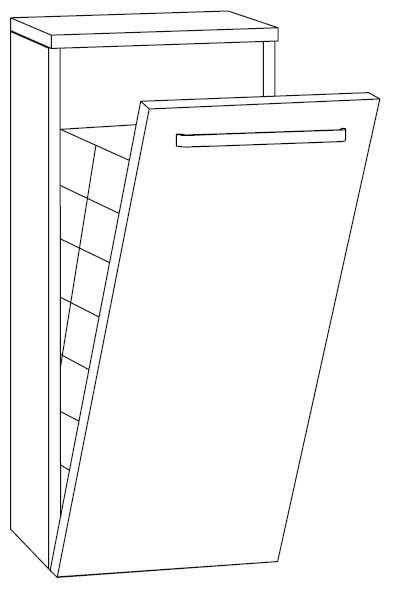 Marlin Bad 3160 - Motion Highboard 40 cm HBW4F mit Wäschekippe