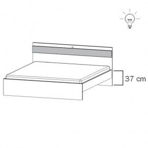 80R4 Bett mit schrägem Fußteil - inkl. Bel.