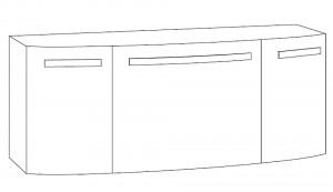Waschtischunterschrank 120 cm SCUA121