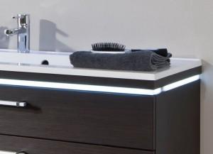 Abdeck- u. Zwischenplatte mit Ausfräsung und LED-Beleuchtungsprofil   - die Beleuchtung ersetzt die farbige Dekorline/Zwischenplatte!