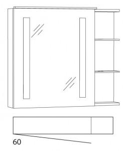 Spiegelschrank 80 cm SFLSR8L
