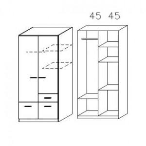 3727 Drehtüren-Kombischrank