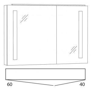 Spiegelschrank 100 cm SFLS10L