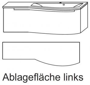 Waschplatz SETP112L - Ablagefläche links