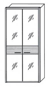 291 - 2 bronzierte Spiegeltüren