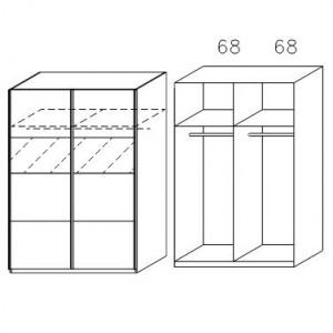 2817 Schwebetürenschrank - Breite 136 cm