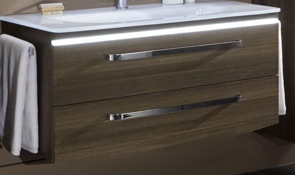 Marlin Spirit Unterschrank mit LED-Bel. 100 cm SRWU102BL Kastanie Maron - Sonderpreis - Sofor