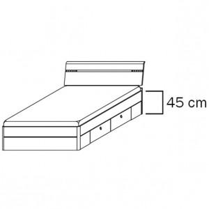 mit 0983 Schubkästen, Liegefläche 140x200 cm