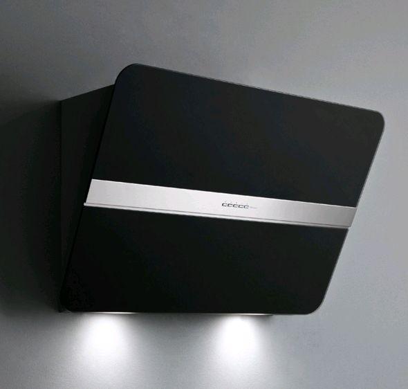 Falmec Flipper 55, Design, Wandhaube, 55 cm, schwarz satiniert