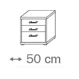 641B - 3 Schubkästen-Holzdekor- Breite 50 cm