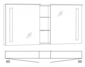 Spiegelschrank 140 cm SFLSR14