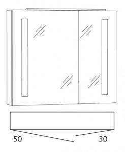 Spiegelschrank 80 cm SFLS8L