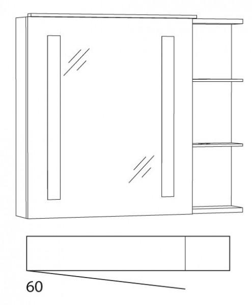 Marlin Azure Spiegelschrank 80 cm SFLSR8 L/R