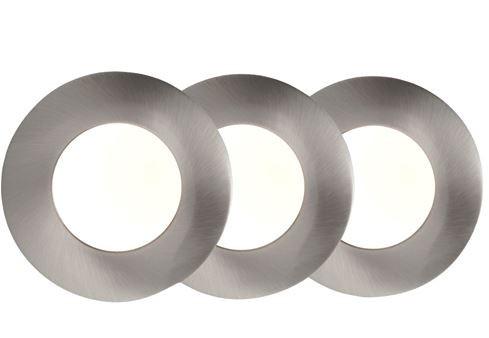AEG Orbita LED-Einbauleuchte 3er-Set Nickel AEG191081