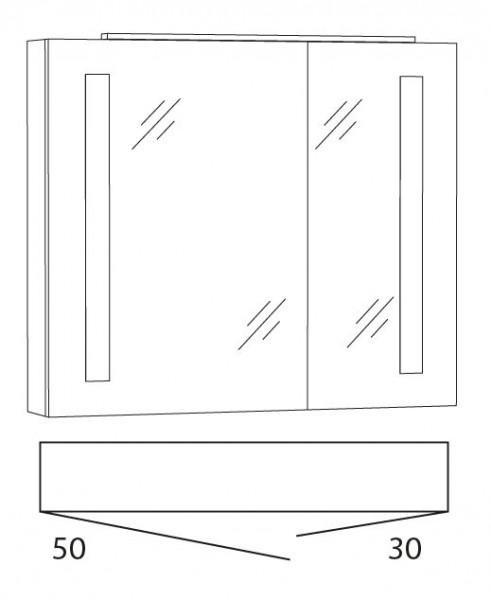 Marlin Azure Spiegelschrank 80 cm SFLS8 L/R