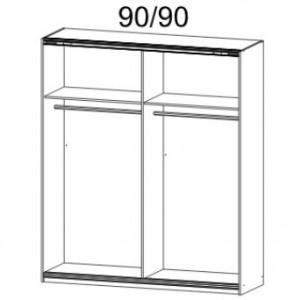 48K2 Breite 181 cm, 2 Schwebetüren je 92 cm