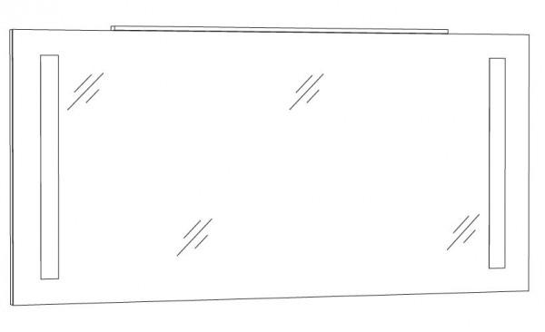 Marlin Azure Spiegelpaneel 140 cm SPFLS14