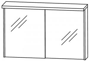 2D-Spiegelschrank 90 cm S2A499011