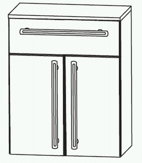 Puris Brillant Highboard 60 cm HBA5560A1