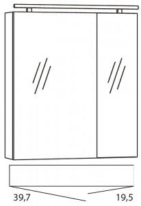 Spiegelschrank 60 cm SPSE600D-4
