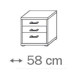 641R - 3 Schubkästen-Holzdekor- Breite 58 cm