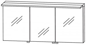 Spiegelschrank 160 cm S2A431677