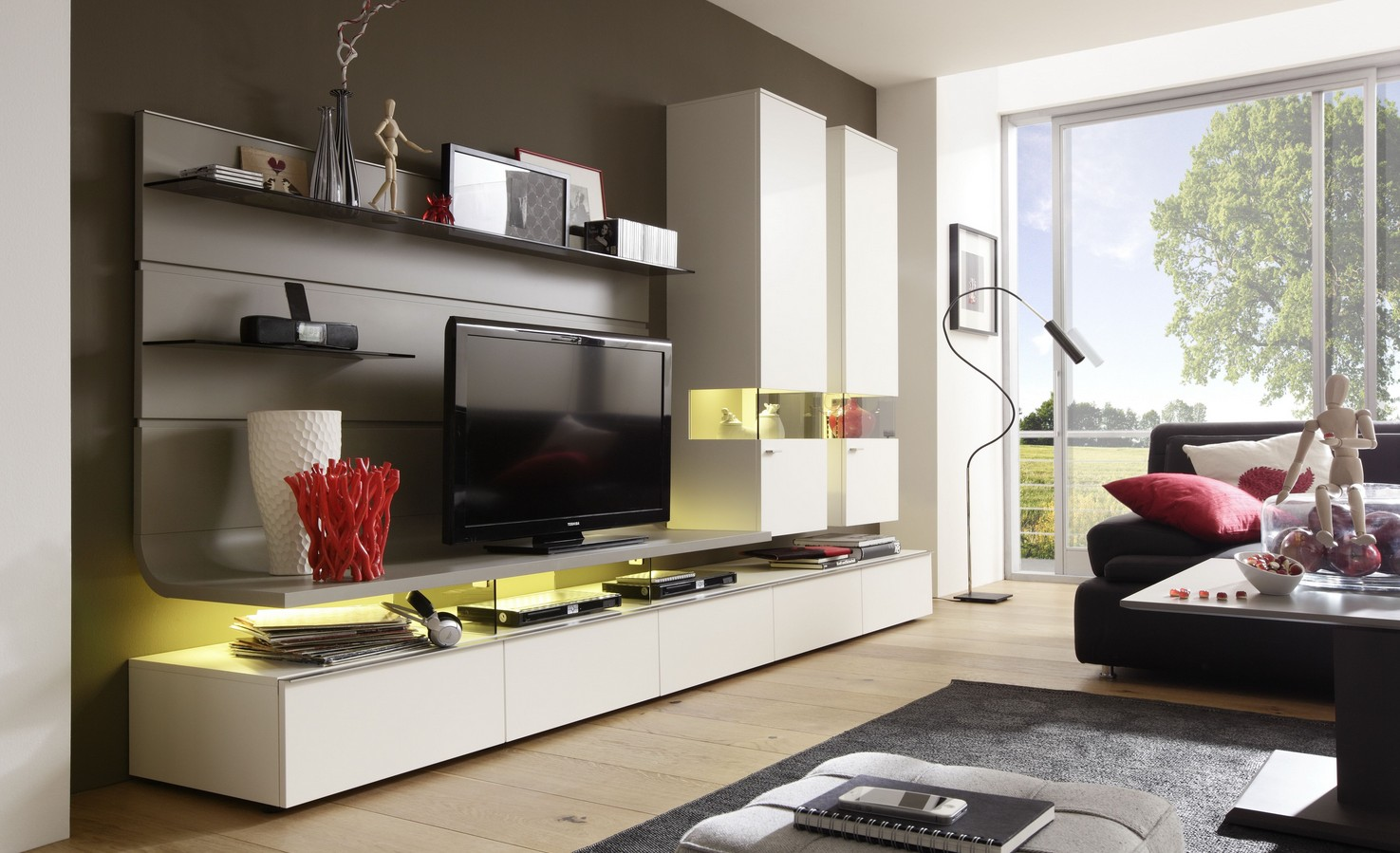 Gwinner loreto latest intelligent lowboard solutions with for Couchtisch taupe
