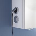 Schalter-Steckdosen-Modul - links außen am Korpus bei Spiegelschrank